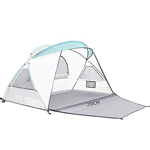 ChangDe - Zelt Zelte, Moderne Sonnensegel Camping und Regen- einzelne Schicht 2 Personen schnell Geschwindigkeit Picknick im Freien Zelt (Color : White)