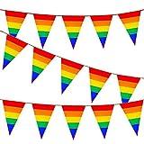 KAHEIGN 26 Pies Bandera de La Bandera del Arco Iris Bandera del Banderín del Orgullo Gay...