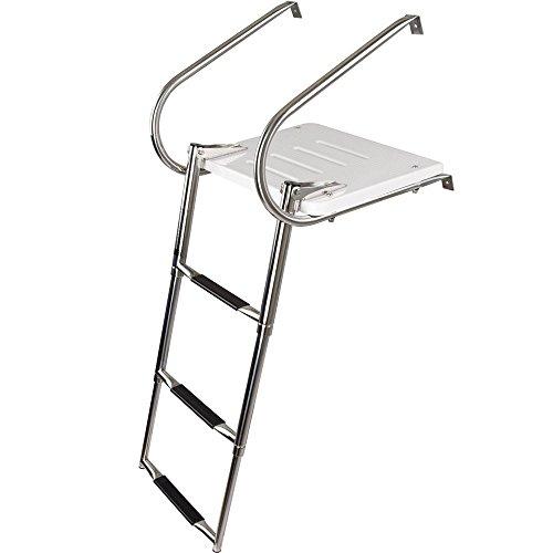 Stainless Steel Inboard Boat 4 Step Ladder Dock Ladder Marine Ladder