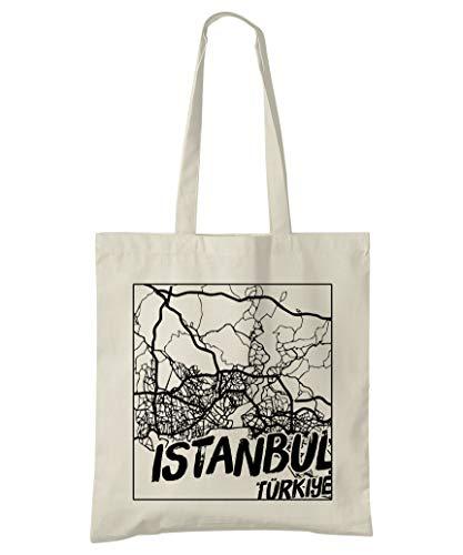 Super Cool Totes Istanbul, Turkey, Stadtplan Einkaufstasche (Design 3)