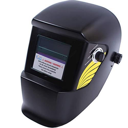 CCLIFE Automatik Schweißmaske Solar Schweißhelme Schweißschirm Optische Klasse: 1/1/1/2, Farbe:Schwarz
