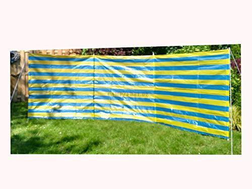 OUTDOOR Windschutz Sichtschutz 400 x 135 cm blau/gelb für Strand Zelt Sonnenschutz