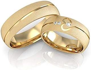 خاتم أنيق من التيتانيوم الصلب - زوجين - سيدة