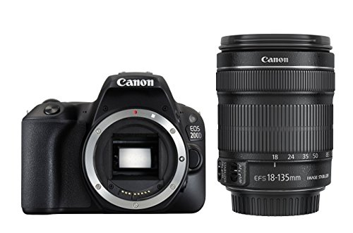 Canon EOS 200D EF-S 18 - 135 mm Digital SLR Camera - Black
