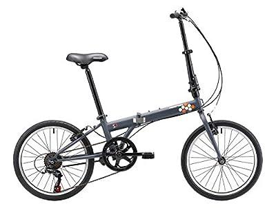 KESPOR S7 Folding Bike for Adults, Women, Men, Shimano 7 Speed Steel Easy Folding Bicycle 20-inch Wheels (Grey)