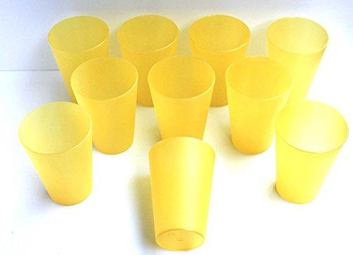 20amarillas plástico Vasos Max 0,4l de PVC Vaso Vasos polipropileno diámetro 56–86mm...