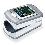 Beuer PO 80 Oxymètre de pouls, mesure de la saturation en oxygène (SpO₂) et de la fréquence cardiaque (pouls), enregistrement continu 24h, logiciel « beurer SpO₂ Assistant »