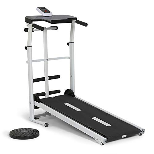 homelikesport Faltbar Laufband ohne Strom Falten, Fitness-Laufmatte, Laufmaschine, 110 * 45 * 105CM