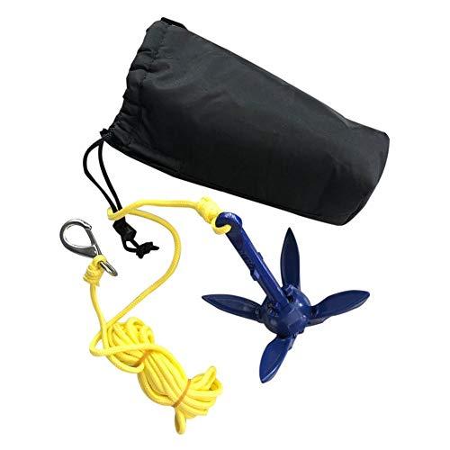 Lvhan Faltanker Ankerset - Kayak Drift Anker mit Ankerleine und Aufbewahrungstasche,Kajak Zubehör