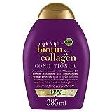 OGX Acondicionador sin Sulfatos para el Crecimiento del Cabello, Biotina y Colágeno, 385 ml