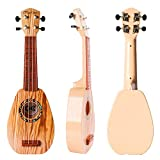 YOLOPLUS+ 17 Inch Kids Ukulele Guitar Toy 4 Strings Mini Children Musical Instruments Educational Learning Toy for Toddler Beginner Keep Tone Anti-Impact Can Play With Picks and Strap (17 Inch-1)