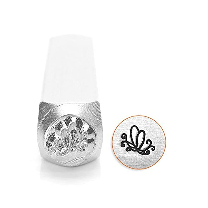 ImpressArt, Metal Jewelry Design Stamp, Butterfly Swirl 2, 6mm