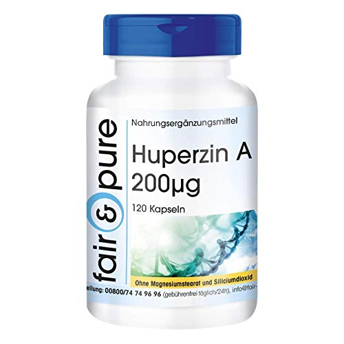 Huperzin A 200µg aus Bärlapp-Extrakt (Lycopodium Serratum) - vegan - 120 Kapseln - natürliches Alkaloid