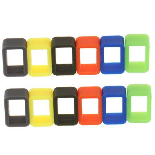 joyMerit 12 Piezas de Correa de Reloj de Repuesto de Caucho de Silicona de Color Brillante / Bucle de Correa en Diferentes Tamaños de 10 Mm a 22 Mm - 12 mm