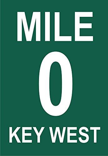 0 Mile Marker Sign, Key West, Florida, FL Souvenir Magnet 2 x 3 Fridge Magnet