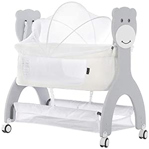 Dream on Me Cub Portable Bassinet in White