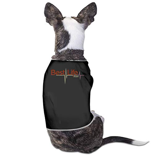Nicokee Puppy Dogs Shirts Costume Best Life Church Pets Clothing Warm Vest T-Shirt M