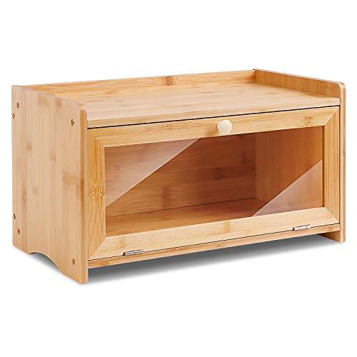 Leader Accessories Cestino per Pane in bambù, Portapane per Il Pane in Legno di bambù da appoggio per Cucina, 38,9 x20,9 x 21,9 cm