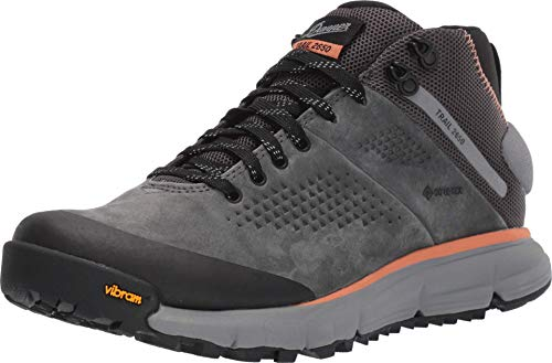 """Danner Women's 61242 Trail 2650 Mid 4"""" Gore-Tex Hiking Boot, Dark Gray/Salmon - 7 M"""