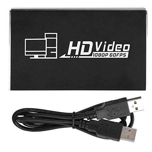 Yunseity Tarjeta de Captura USB2.0 Full HD HDMI Game Video en Vivo para PS3 / Xbox 300 / Windows7 / OS X10.9 Tarjeta de adquisición Captura de Video Grabadora de Video Accesorio de computadora