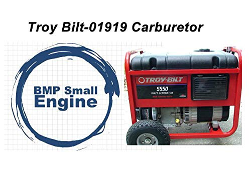 BMotorParts Carburetor Carb for Troy Bilt 5550 8550 Watt Generator Briggs & Stratton # 01919