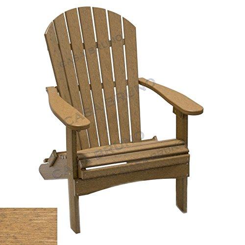 CASA BRUNO Original Alabama butaca Adirondack plegable, HDPE poly-madera, antique mahogany natural finish - garantizada resistencia a la intemperie