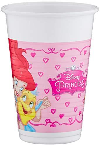 Procos 86678 Disney Princess Dreaming - Gafas de Plástico (200 Ml), 8 Piezas, Color Rosa