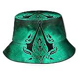 Sombrero para el Sol Assassin 's-Creed Fisherman' - Gorra de ala Ancha con protección Ultravioleta y Transpirable para Exteriores-Y4