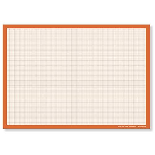 Papel milimetrado DIN A2 para escritorio (grande) – Bloc de dibujo para...