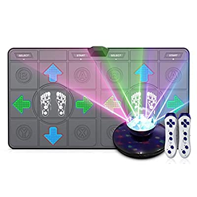 All new Colorful LED massage dance blanket wireless double somatosensory game machine running yoga fitness By TV HDMI interface free stage atmosphere lights, 8G memory card Super clear picture quality from Mats