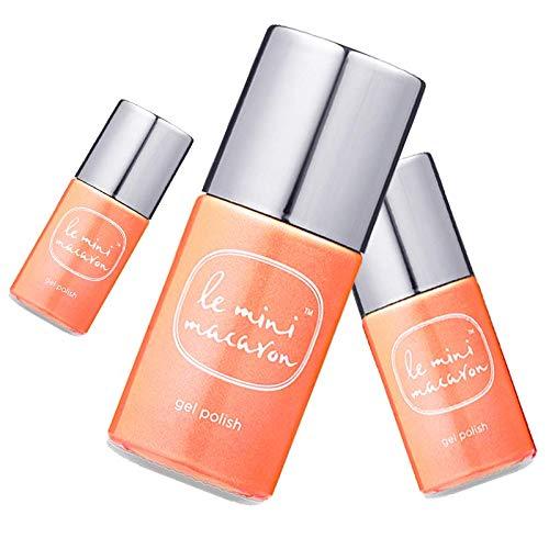 Le Mini Macaron • Vernis à Ongles UV 3 en 1 • Nail Gel Semi-Permanent • Séchage LED • Sun Beam Couleur Orange • 10ml