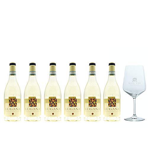 Sparpaket Ottella Lugana DOC 2019 (6 x 0,75l) mit Spiegelau Senti Vini Weinglas
