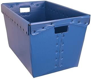 Blue Corrugated Plastic Nesting Tote Container - 18-1/4