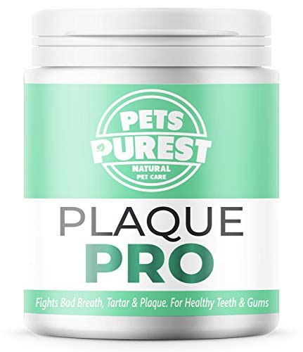 Pets Purest 100% Natural Plaque Off, Plaque Remover & Tartar Remover For Dogs, Cats & Pets (180g) Breath Freshener Dental Care Prevents Plaque & Tartar Build Up Freshens Breath Prevent Gum Disease