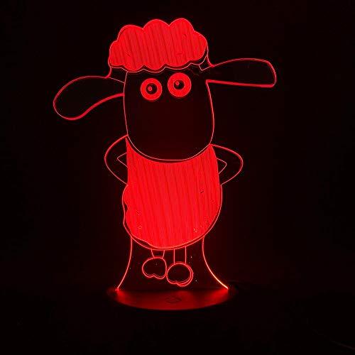 Led Night Light Cartoon sheep Light Kids Bedroom Night Light Nightlight 3D Lamp Children