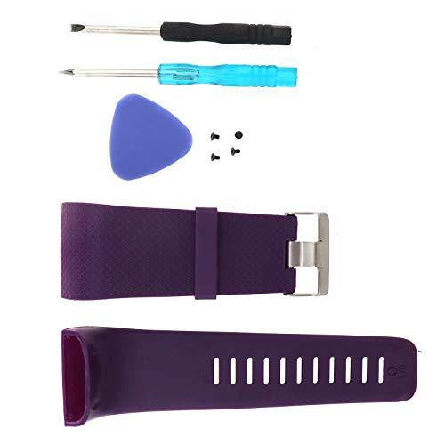 ENET - Cinturino di ricambio per orologio da polso in silicone, unisex, per Surge Watch