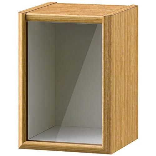朝日木材加工 ペットメモリアルボックス cloche 3寸ボックス ナチュラル 3寸骨壺対応 フォト台紙付き CLP-1813BX-NA