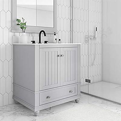 """Dorel Living Monteray Beach 30 Inch, Gray Bathroom Vanity, 30"""""""