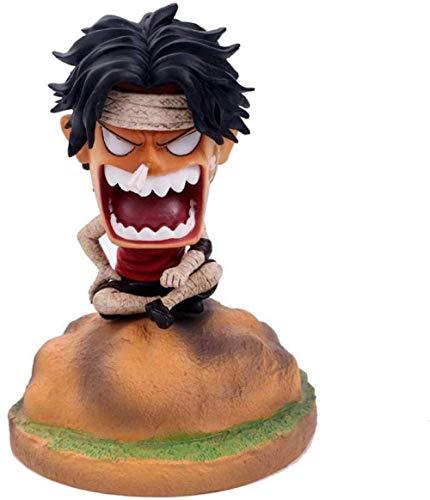 One Piece Q Edition Childhood GK Vendaje Luffy Ace Saab Anime Hecho a mano Coche Hecho a mano Decoración Hecho a mano Ajedrez Rey Personaje de dibujos animados Modelo Regalo de cumpleaños (Tamaño: B)