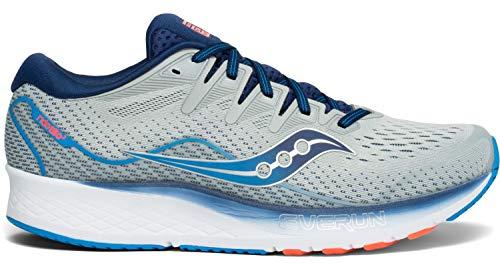Saucony Men's S20514-1 Ride ISO 2 Running Shoe, Grey/Blue - 10.5 M US