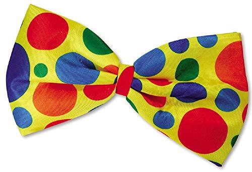 Fancy Me Femmes Hommes Adulte Géant Extra Large Multicolore à Pois Clown Cirque Rainbow Costume Déguisement Nœud Papillon