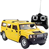 Liberty Imports Hummer H2 SUV Full Function RC Radio Remote Control Car 1:24 Scale (H2 SUV Yellow)