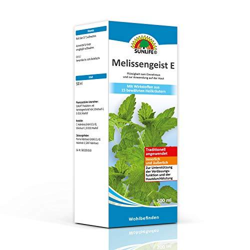 SUNLIFE Melissengeist E: Traditionelles pflanzliches Arzneimittel mit den Ölen von 15 Kräutern, 500 ml