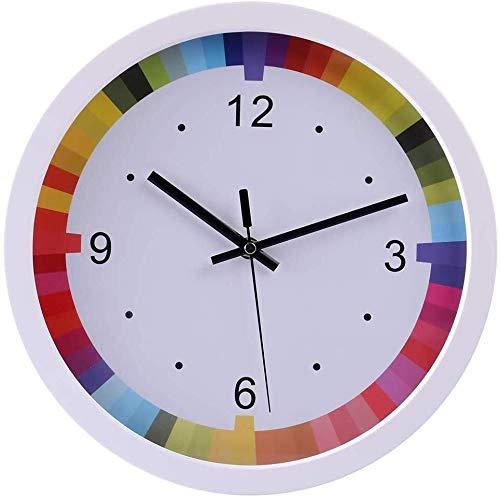 """NYDZ 12"""" Rainbow Wanduhr Kinder Non Ticking for Privatanwender Küche Wohnzimmer Schlafzimmer"""