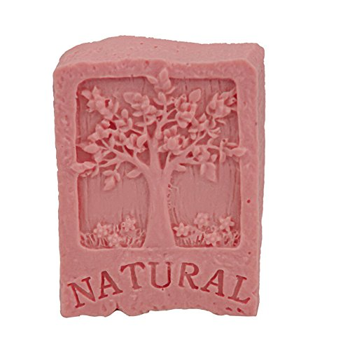 YunKo Rectangular Handmade Tree Soap Molds Silicone Art Craft Mould with Natural Life Tree Design