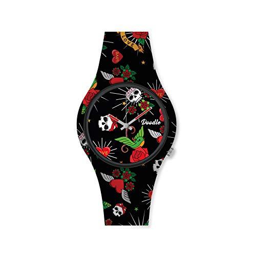 DOODLE Watch ? Armbanduhr für SIE& IHN Ø 39mm   Silikon > Herzen & Rosen > DOTA005