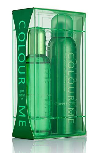 Colour Me Green - Fragrance for Men - Gift Set 90ml EDP/150ml Body Spray, by Milton-Lloyd