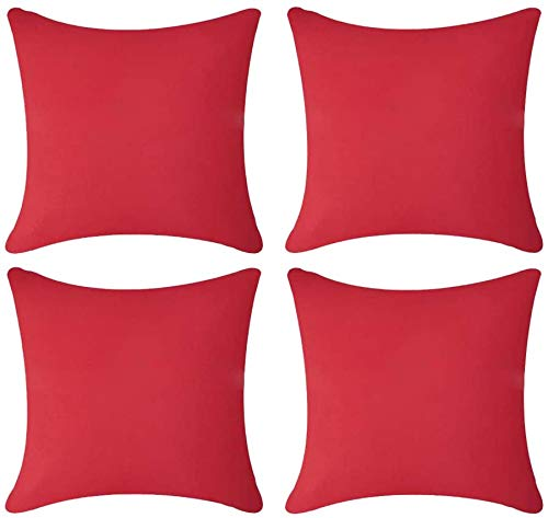 Andreannie - Juego de 2 fundas de cojín decorativas para exteriores, impermeables, para jardín, tienda de campaña, granja, poliéster, ambos lados, cuadradas, 45,7 x 45,7 cm