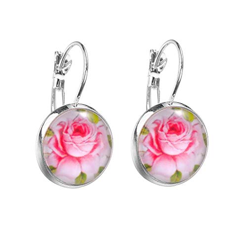 Fenverk Süßwasser Weiß Perlen Ohrringe Silber Damen Creolen Ohrringe Mit Perle (10mm), Perfektes Geschenk,ohrhänger,perlenohrringe,perlen ohrringe damen(Mehrfarbig_03)
