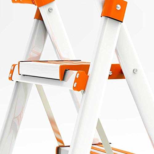 FJX Escalera de aluminio, Escalera plegable doméstica Escalera telescópica de interior Escalera telescópica multifunción Escaleras gruesas de acero inoxidable